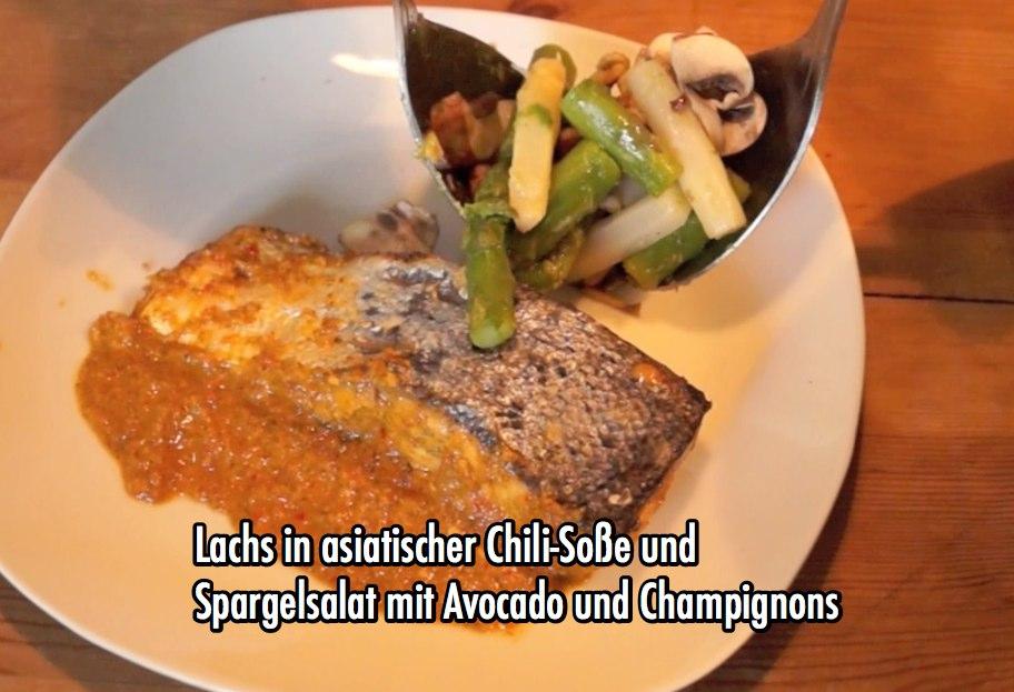 Kochen mit Musik, Folge 03 Lachs mit Spargelsalat